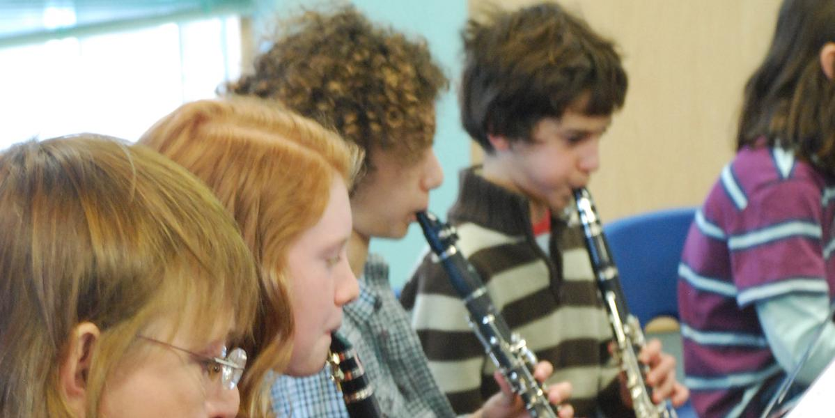 clarinet exercises children in group