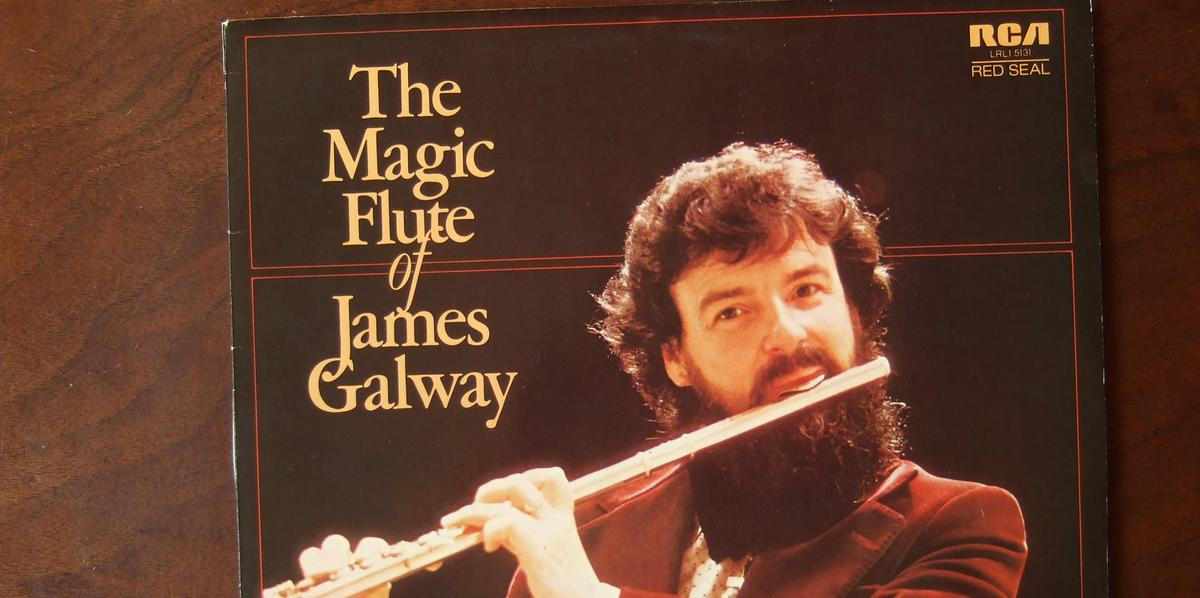 Famous flute players: James Galway recording