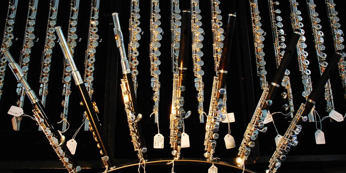 flute brands many silver flutes and piccolos